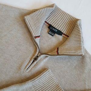 J CREW Zip Half Zip Neck Sweater Mens S
